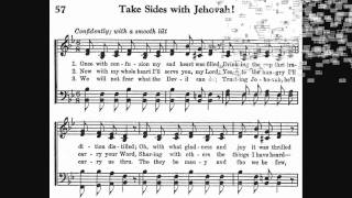 "1950 Songbook #057 ""Take Sides With Jehovah""  1955 District Convention"