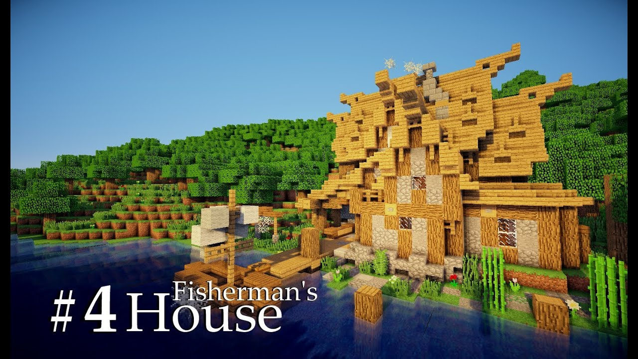 Minecraft Medieval Fisherman S House Tutorial Part 4 4 Youtube