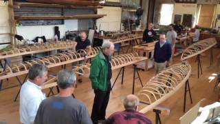 time lapse video of kayak building class