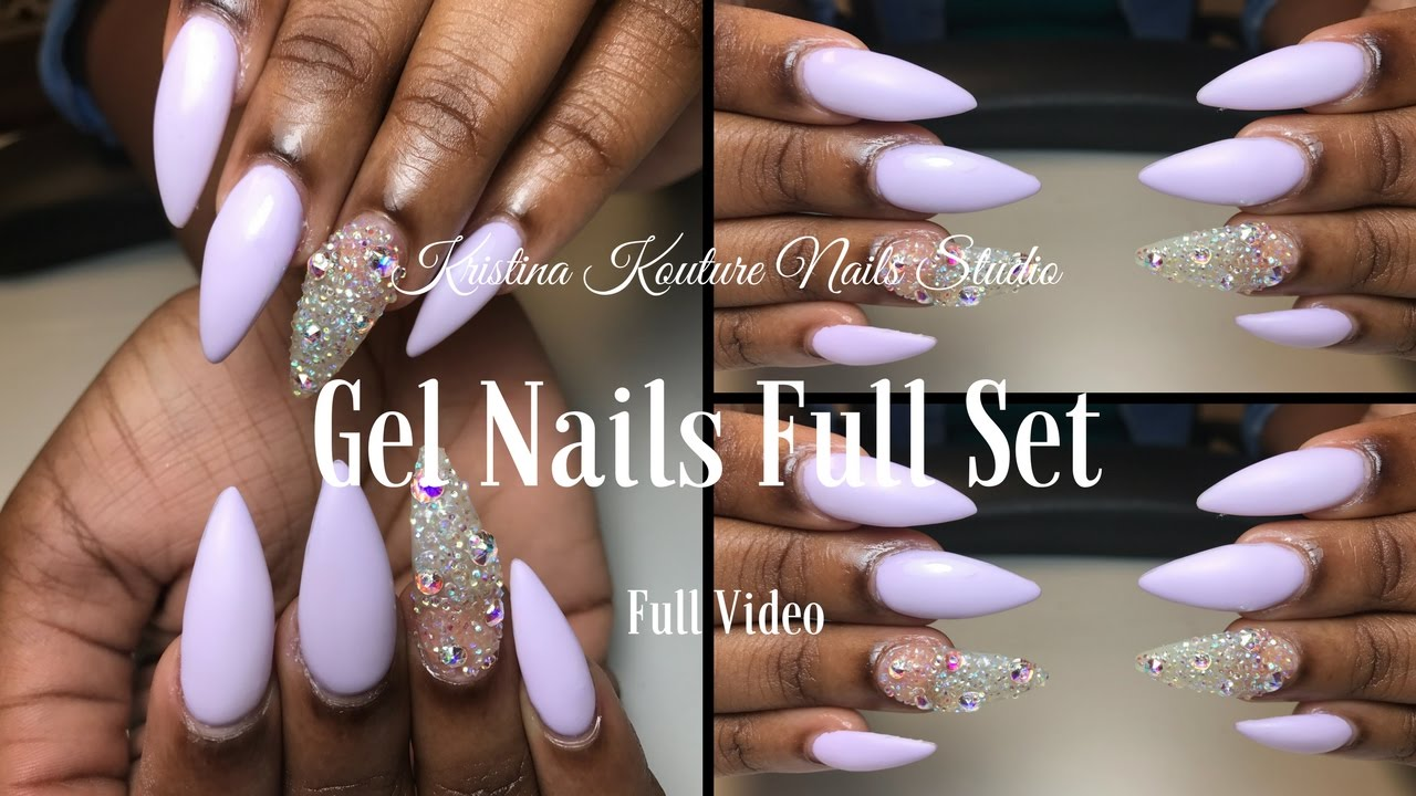 Gel Full Set | Using Mia Secret Gel - YouTube