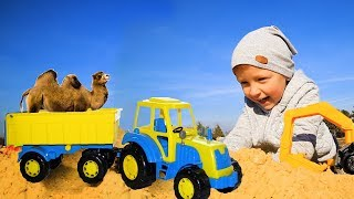 We play In a large Sandbox blue Tractor and Camel. The present challenge is against...