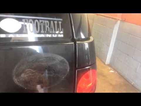 Magnetic sticker damage to vehicle paint youtube