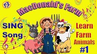 Легко учим домашних животных на английском с песенкой.Farm animals.English for Kids #LondonFamilyFun