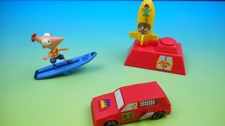 2008 PHINEAS and FERB SUBWAY KIDS MEAL TOYS | Boy Toys | FastFoodToyReviews