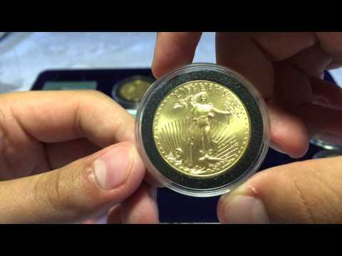 Gold Coins and Bars, 1oz. Maple, Eagle, Buffalo, Philharmonica.