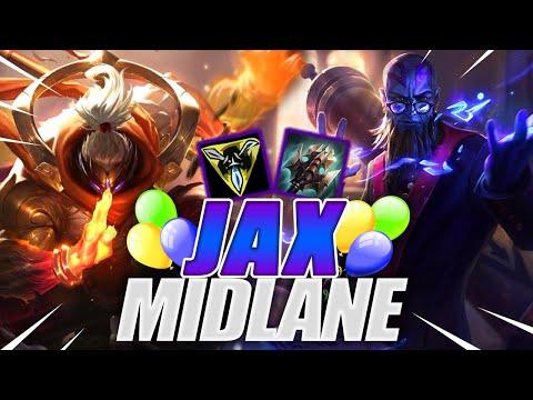 Vidéo d'Alderiate : [FR JAX VS RYZE - C'EST MON ANNIVERSAIRE - 8.19 - DIAMANT 1