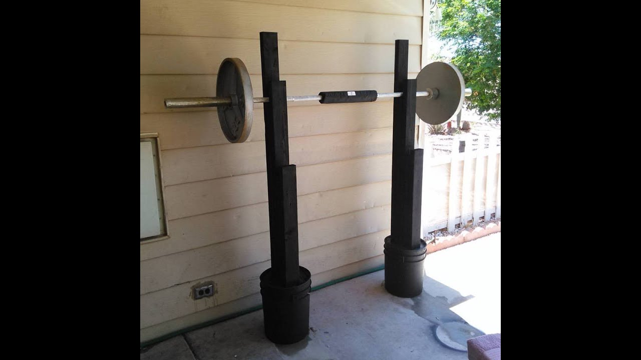 homemade steel squat stands crazy homemade