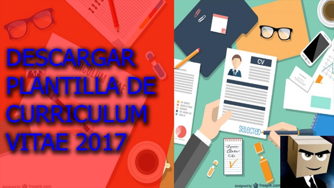 Descargar Plantilla Modelo De Curriculum Vitae 2017 Gratis En