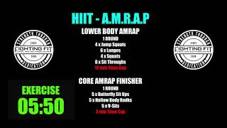 Week 13   HIIT AMRAP