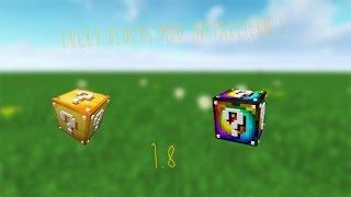 Lucky Blocks Mod Installieren 1.8 ! mit Addons