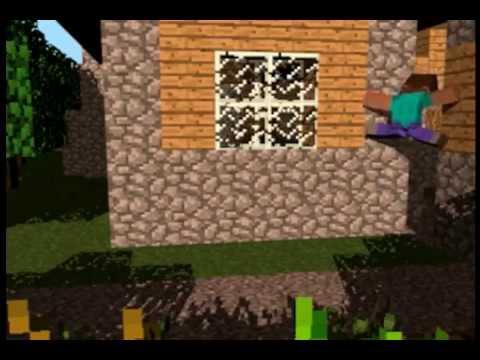 Animación de minecraft-steve parkour fail