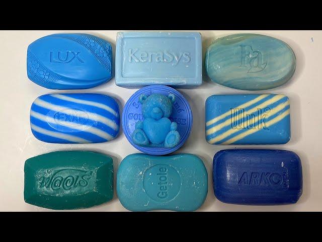 Blue Soap💙 Soap Cutting ASMR. Relaxing Sounds (no talking). Satisfying ASMR Video. Asmr soap.