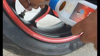 Applying Tire Sealant [] Sniper150 [] MotoTrip [] Episode 13