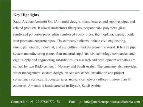 Saudi Arabian Amiantit Co  (2160) : Company Profile and SWOT