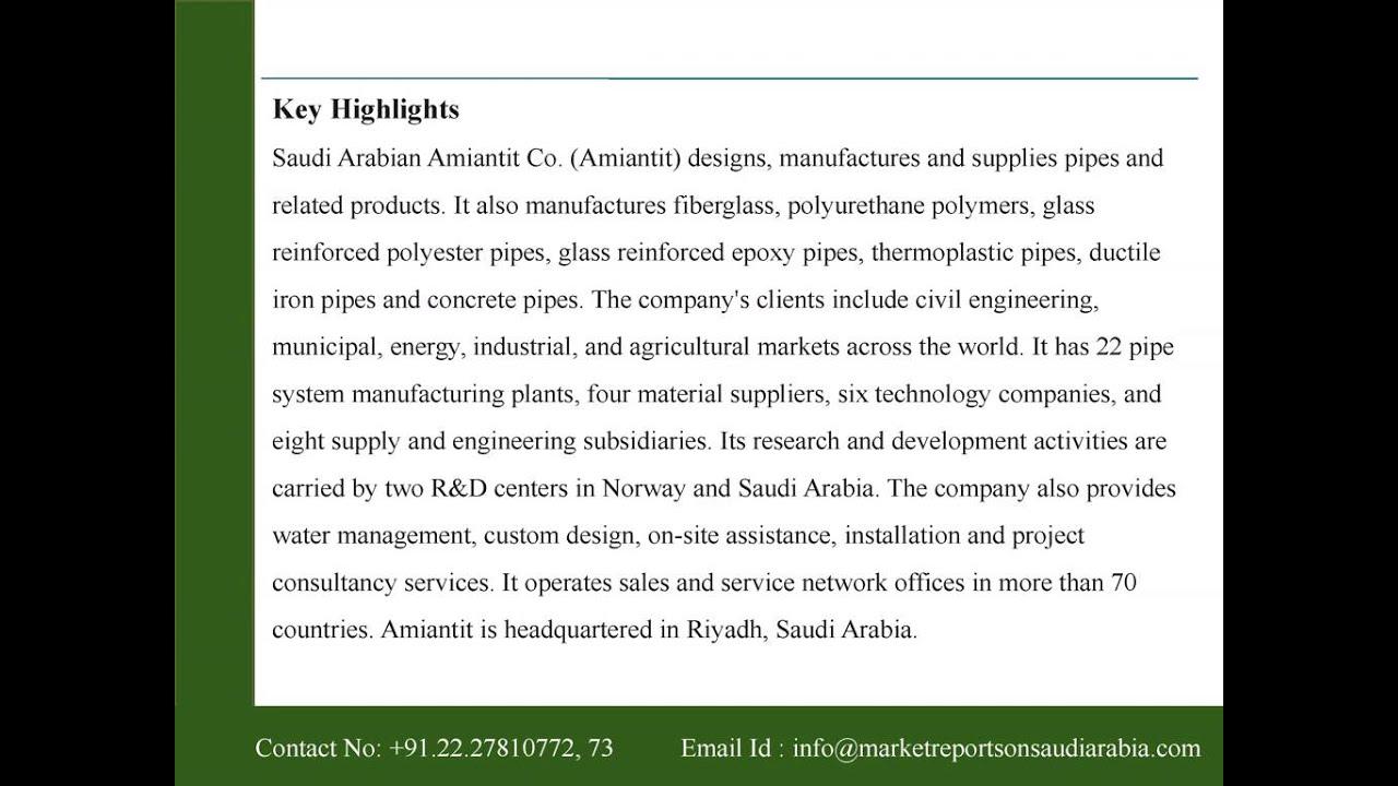 Saudi Arabian Amiantit Co  (2160) : Company Profile and SWOT Analysis