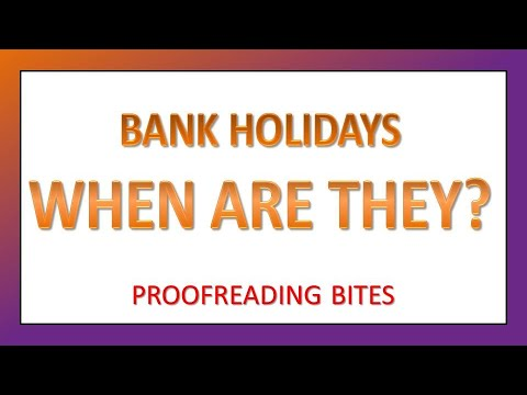 Bank Holidays in the UK and Northern Ireland: List