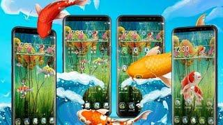 Koi Fish Theme & Lively 3D Ripple effect ! 3D Theme & HD Live Wallpaper screenshot 2