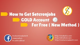 How To Get SetCronjobs Free Gold Account Free Cronjobs For Facebook Bot