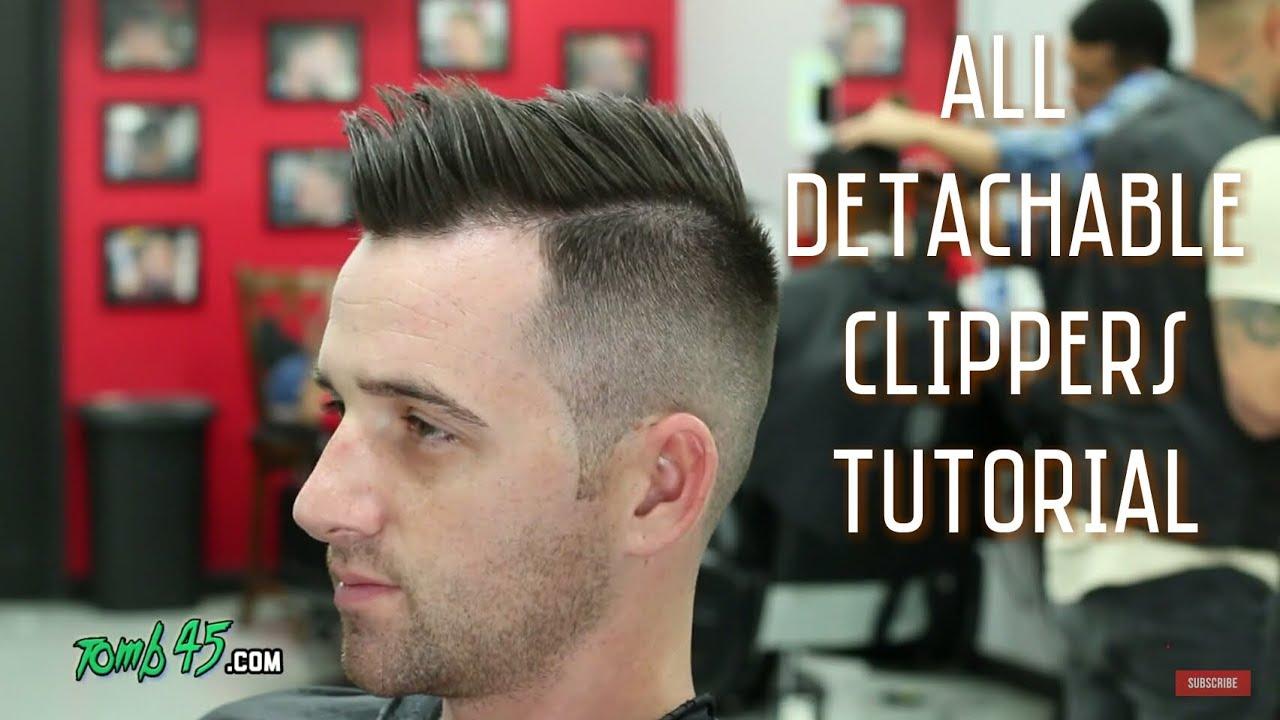 All Detachable Clipper Shadow Fade Side Part Haircut Barber