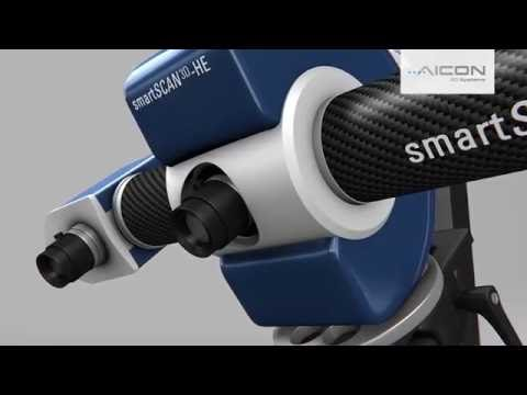 3D scanning with AICON Scanners - Illustration of the scanning process
