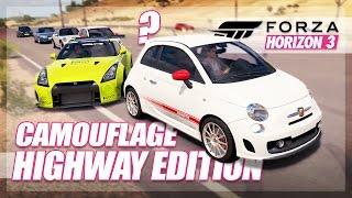 Forza Horizon 3 - Camouflage Highway Edition! (Mini Games & Random Fun)