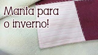 Patchwork Ao Vivo: manta de flanela com carapinha
