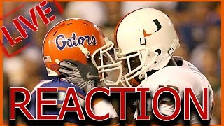 LIVE | FLORIDA GATORS VS MIAMI HURRICANES REACTION
