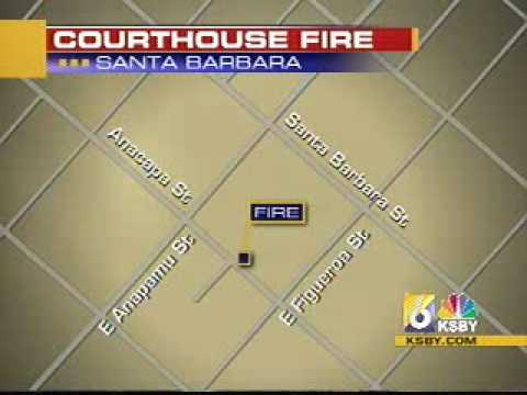 Fire sparks at Santa Barbara courthouse