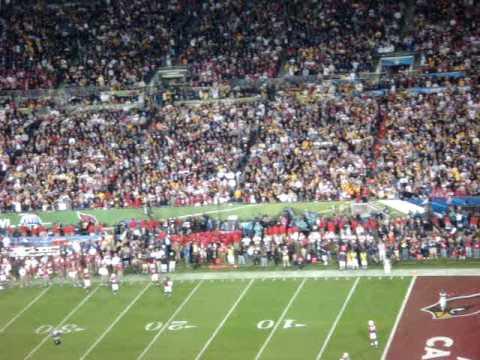 Super Bowl XLIII Steelers / Cardinals - SANTONIO HOLMES TD CATCH!!!!!!!