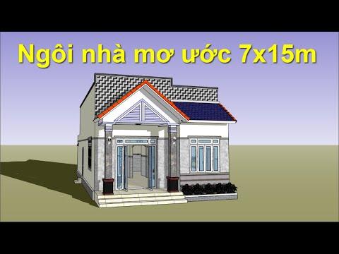 Mẫu nhà đáng xây với diện tích 105m2 có 3 phòng ngủ   Nhà 3D   Simple house