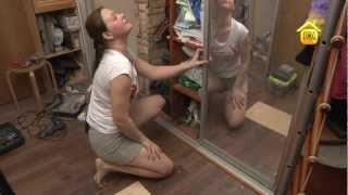 видео Ремонт направляющих шкафа купе