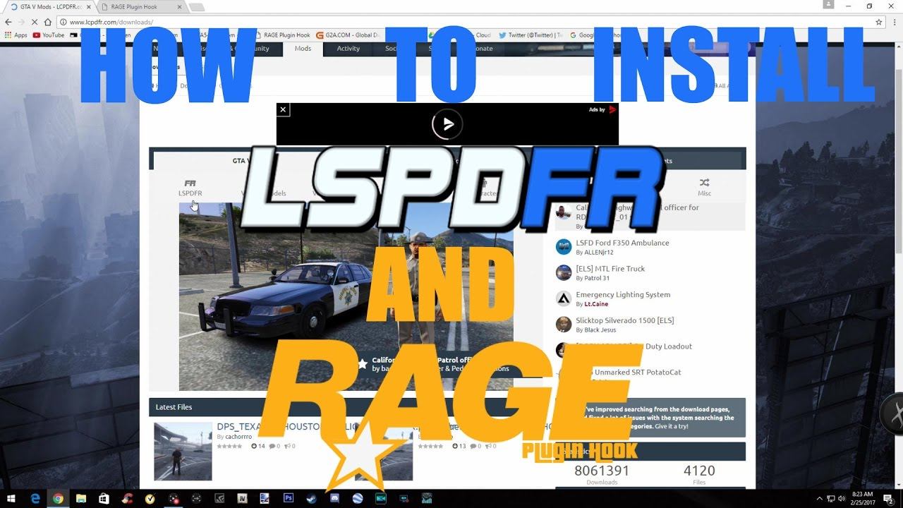 How To Install LSPDFR and RagePluginHook (Update 2017)!!