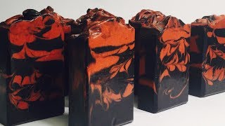 The Making and Cutting of Charcoal & Moroccan Red Clay Soap