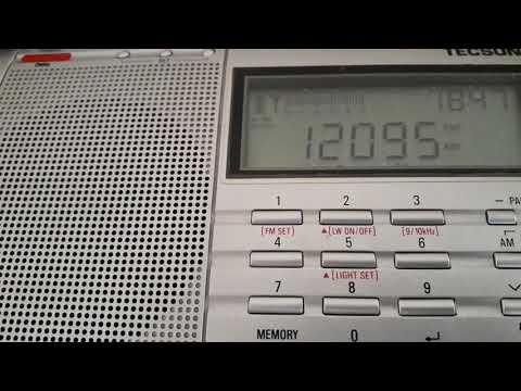 BBC (transmitter Dhabbaya, United Arab Emirates) - Low audio & hum noise - 12095 kHz