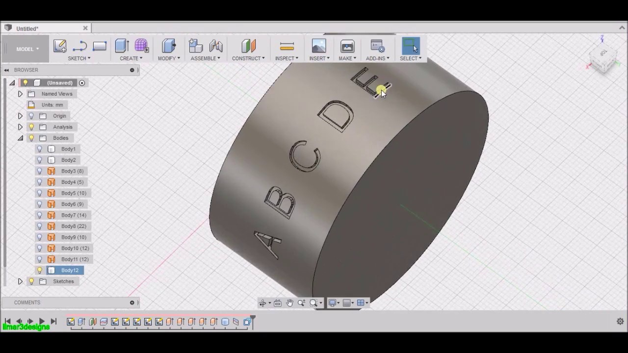 how to make a number fusion 360