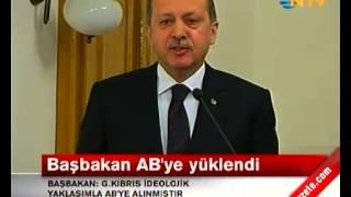 Başbakan Erdoğan Güney Kıbrıs Bir Devlet Değildir konuşması