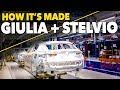 Alfa Romeo Giulia + Alfa Stelvio CAR Factory HOW IT'S MADE Production Plant Cassino