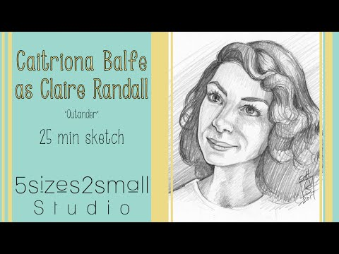 Weekly Sketch - Caitriona Balfe as Claire Randall in Outlander