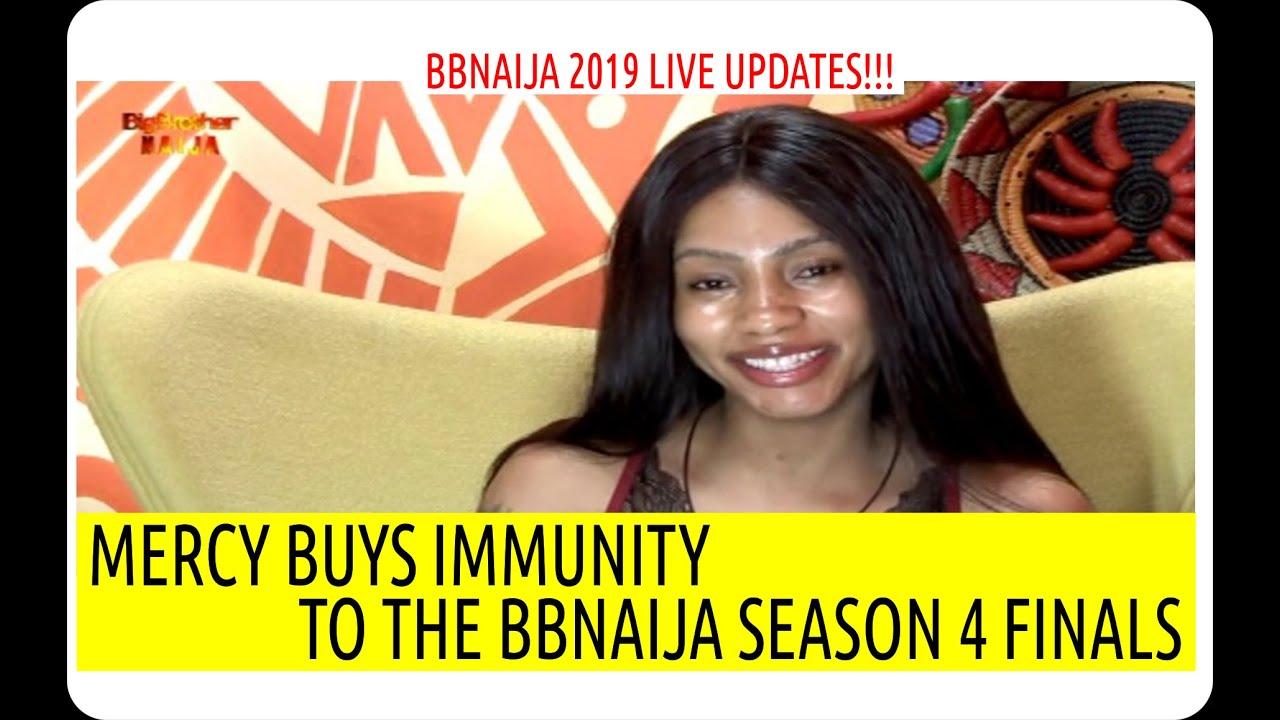 BBNAIJA 2019 LIVE UPDATES | MERCY BUYS IMMUNITY TO THE BBNAIJA SEASON 4 FINALS | BBN4 NEWS