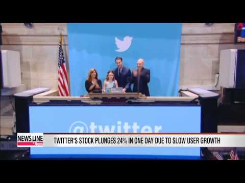 Twitter's stock plunges 24 percent in single day on slow new user numbers