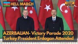 Hell March - Azerbaijan victory parade 2020 to celebrate war of Nagorno-Karabakh (1080P)