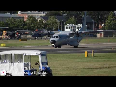 Portuguese Air Force departing Farnborough Airport