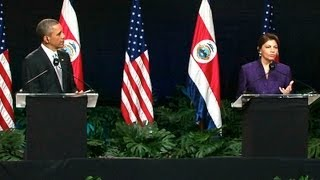 President Obama Holds a Press Conference with President Chinchilla