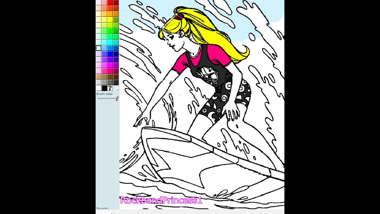 barbie games barbie coloring pages online youtube