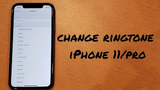 A tutorial video demonstrates how to change the ringtone on your iphone 11/max/pro. check out other 11 tutorials: https://www./playlist?lis...