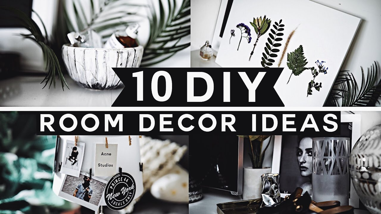 Elegant 10 DIY Room Decor Ideas For 2017 (Tumblr Inspired) 💡 ✂ 🔨 Minimal U0026  Affordable!   YouTube