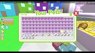 Pet Simulator giveaway free rainbow pet and road to 600 and rubux