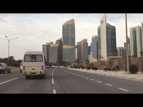 Doha City Drive I Qatar's Financial District I City Centre I