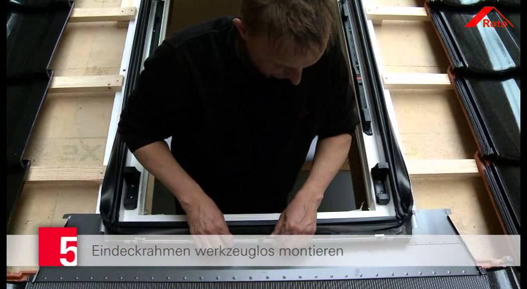 Frisch DE - Roto Einbaufilm Dachfenster R8 - YouTube VV09