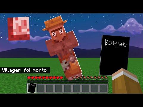 Minecraft: USEI UM DEATH NOTE NO MINECRAFT E ISSO ACONTECEU!